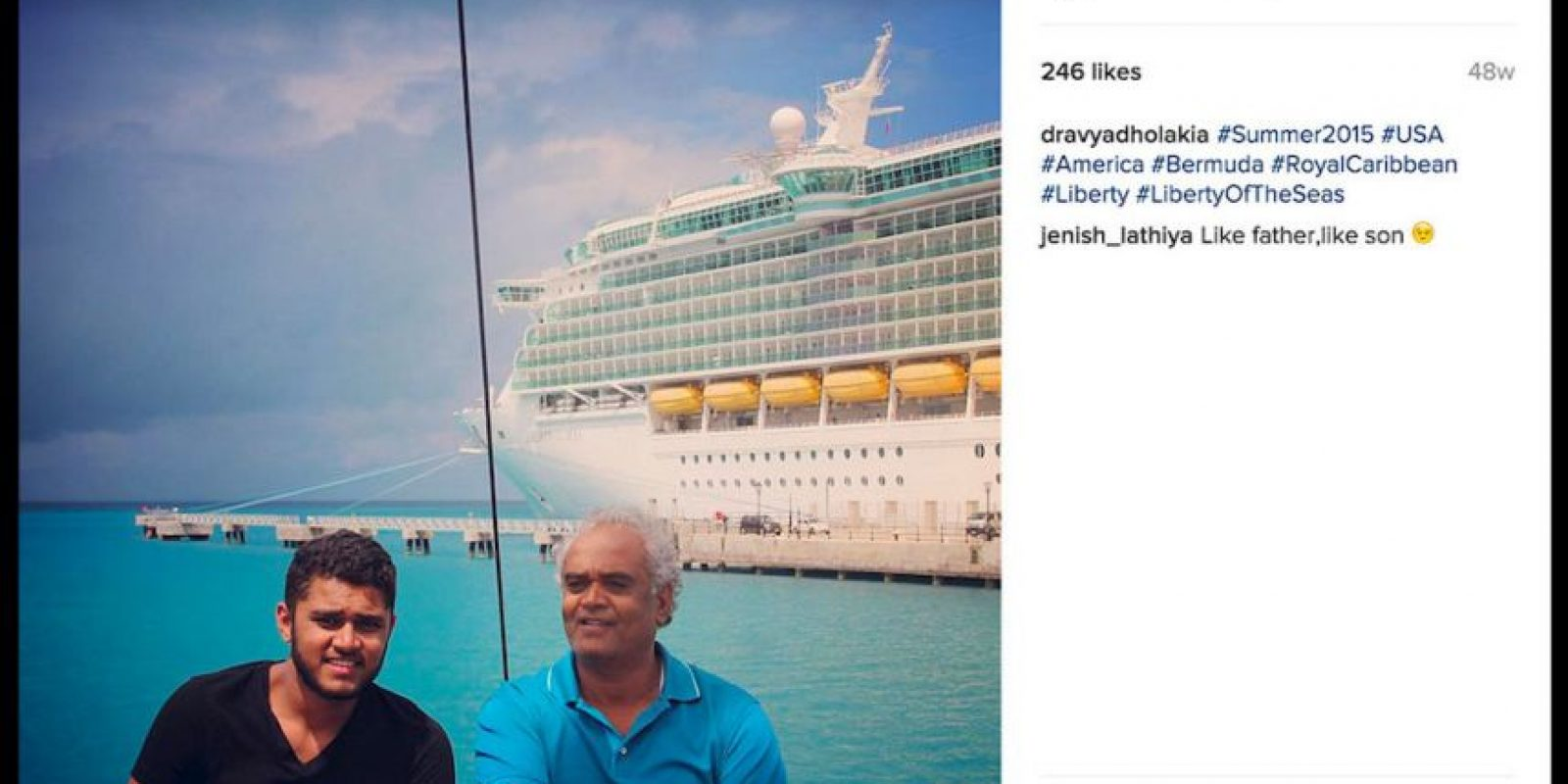 Su padre es un empresario millonario que se dedica a la exportación de diamantes a nivel mundial. Foto:Instagram/dravyadholakia