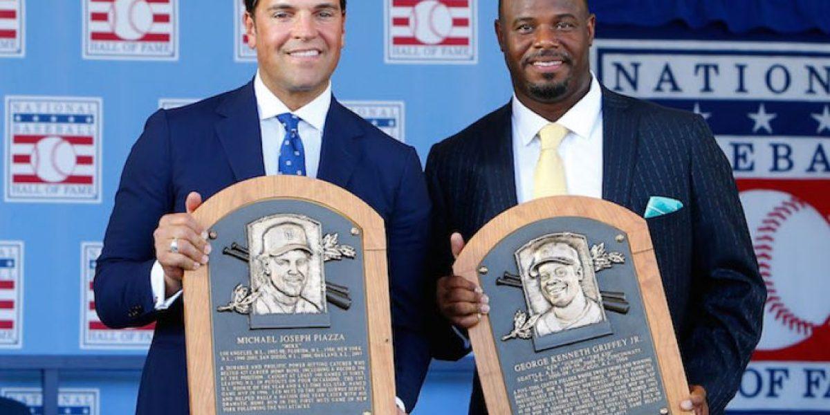 Ken Griffey Jr. y Mike Piazza fueron exaltados al Salón de la Fama del beisbol