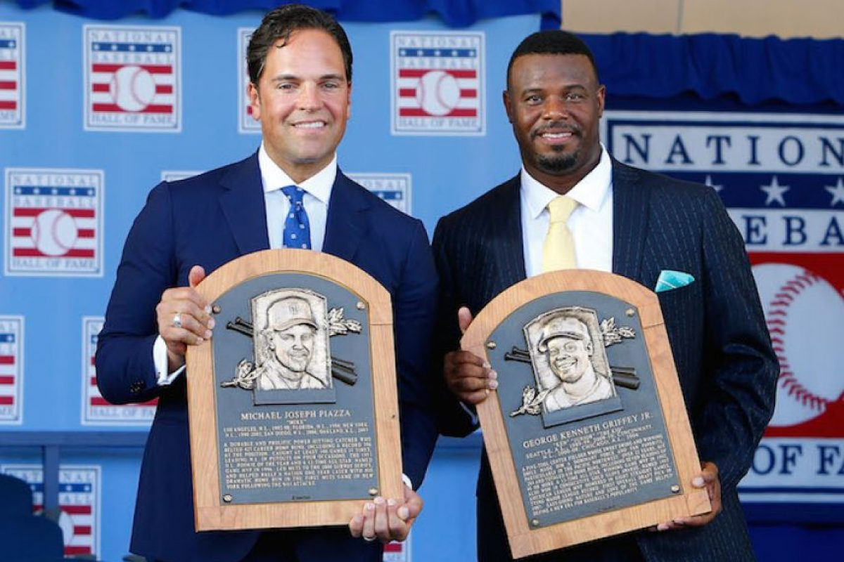 Ken Griffey Jr. y Mike Piazza fueron exaltados al Salón de la Fama del beisbol Foto:Getty Images