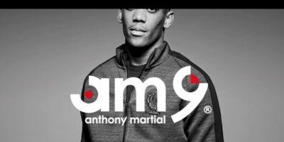 Anthony Martial, además, tiene como estrategia para publicitar su figura como 'AM9? Foto:Captura de pantalla sitio oficial Anthony Martial