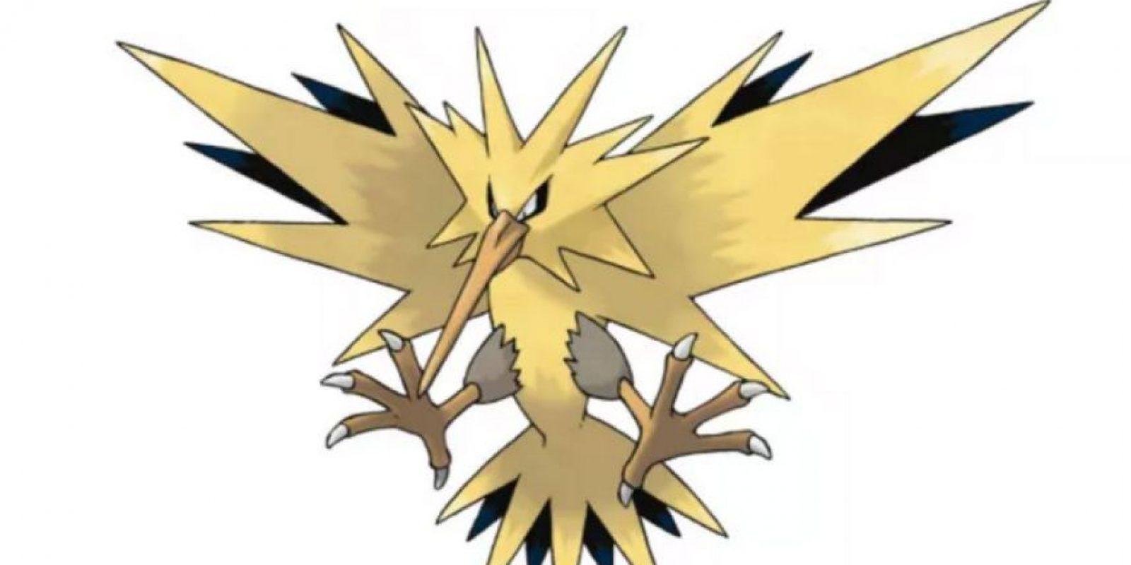 4.- Zapdos, imagen del equipo amarillo y ave legendaria. Foto:Pokémon