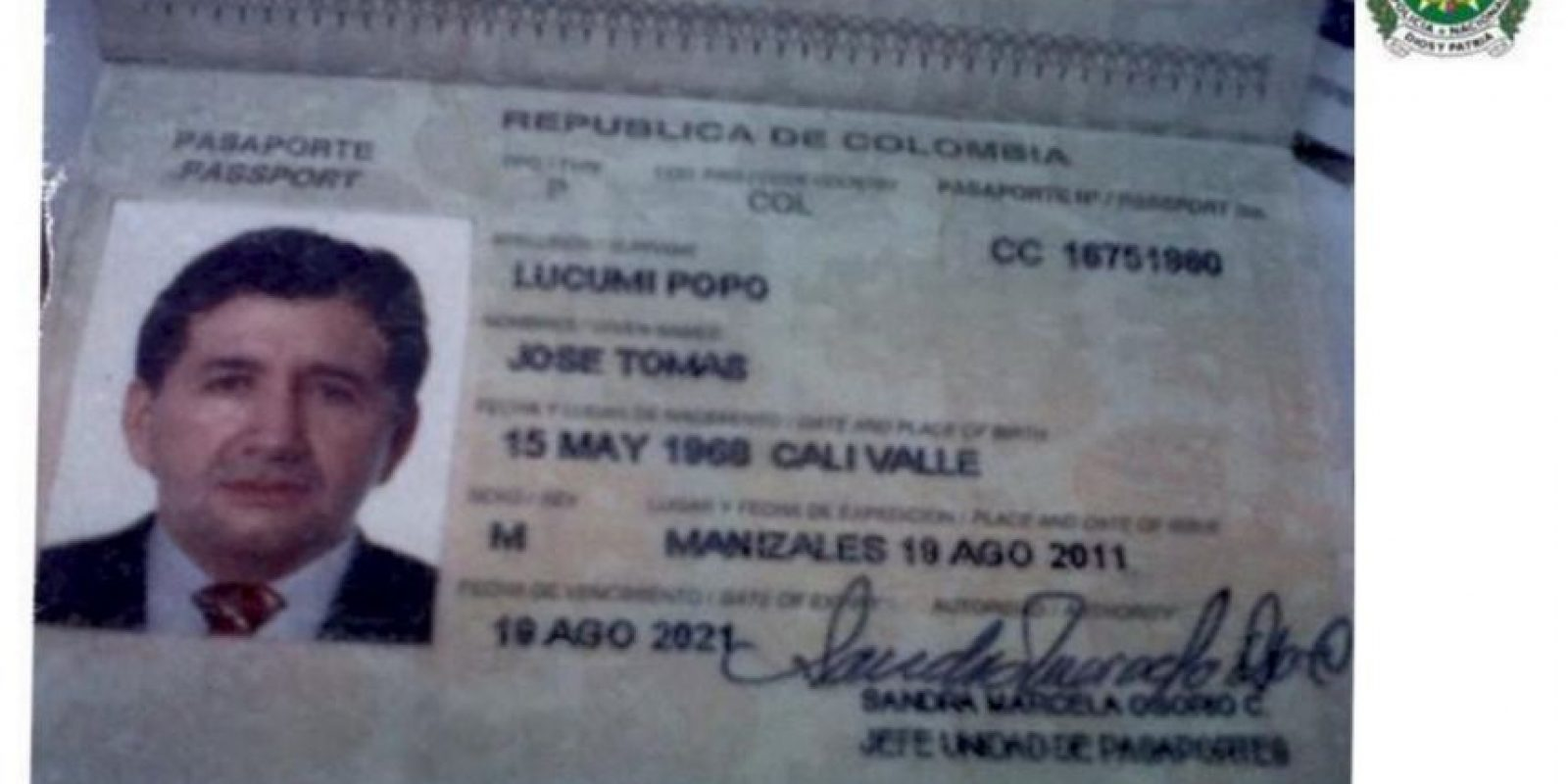 Foto:Policia Nacional de Colombia