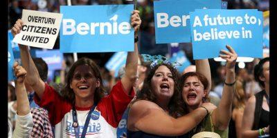 Sus simpatizantes aún muestran su repudio a la candidatura de Hillary Clinton. Foto:Getty Images