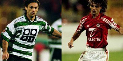 Joao Pinto se transformó en un emblema de Benfica en los ocho años que vistió la camiseta e, incluso, se ganó el derecho a portar la jineta de capitán, pero en 2000 se fue al archirrival: Sporting CP Foto:Getty Images