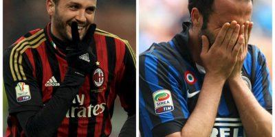 Giampaolo Pazzini fue otro de los jugadores que vistió la camiseta de los dos equipos de Milán Foto:Getty Images