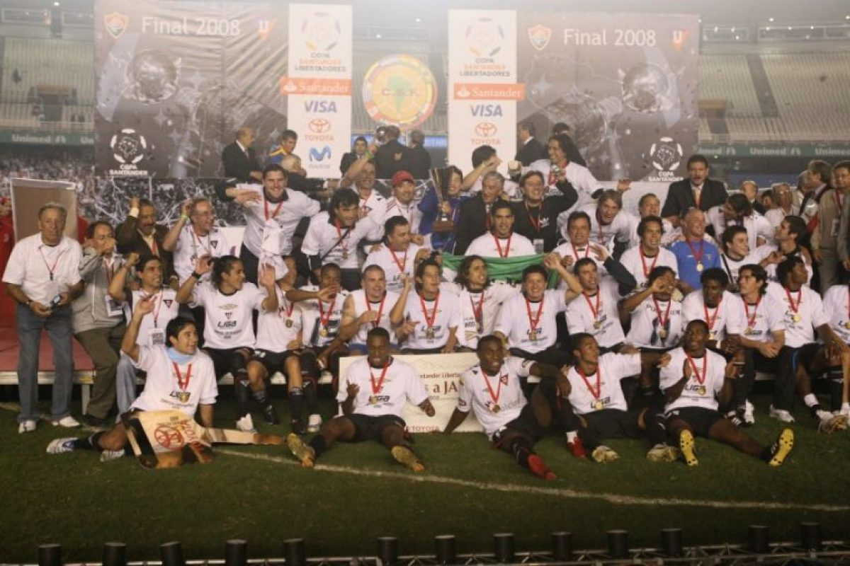 Ecuador también suma una corona y le pertenece a LDU de Quito en 2008 Foto:AFP