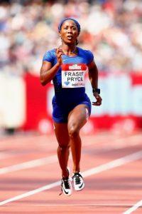 Shelly-Ann Fraser. La también jamaicana fue suspendida seis meses en 2010 por dar positivo de un analgésico Foto:Getty Images