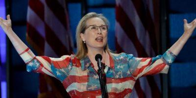 Meryl Streep dio un discurso en el que comparó a Hillary Clinton con otras figuras femeninas históricas estadounidenses. Foto:Getty Images