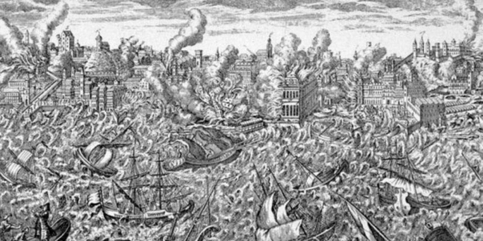 Los desastres naturales han existido desde siempre y han afectado considerablemente a la Humanidad. Este es el grabado del terremoto de Lisboa en 1755. Posteriormente, la ciudad fue inundada por un tsunami y luego se incendió. Foto:Wikipedia.