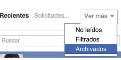 """Las conversaciones se van a un """"inbox"""" alterno. Foto:Facebook"""