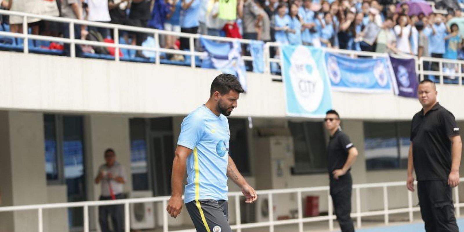 Sergio Agüero tapó las críticas marcándole un gol a Borussia Dortmund Foto:Getty Images