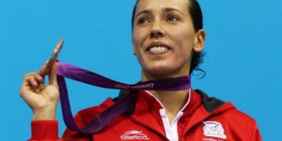 Laura Sánchez consiguió medalla de bronce en Londres Foto:Getty Images