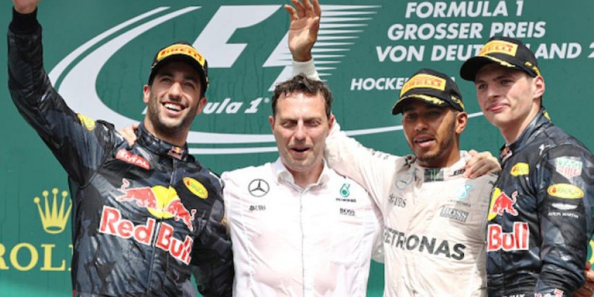 Hamilton se impone en Alemania,