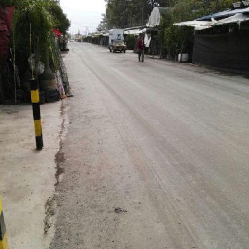 Las calles de Xochimilco quedaron cubiertas de ceniza Foto:Twitter