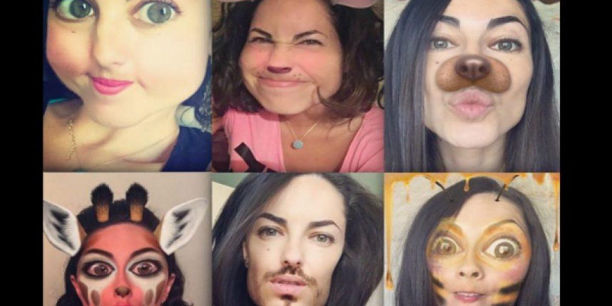 Así se divierte Bárbara Mori con los filtros de Snapchat