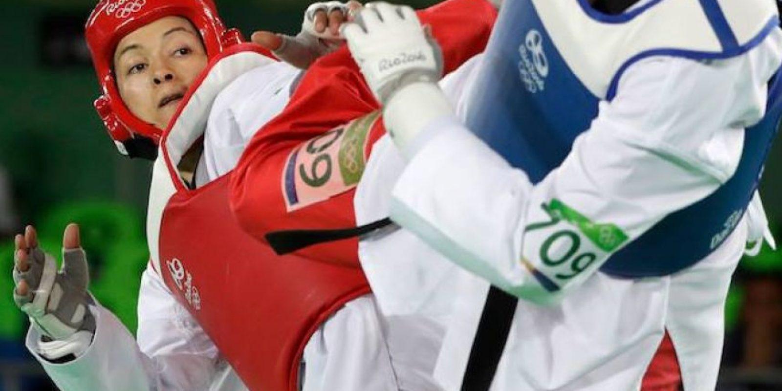 María del Rosario Espinoza durante la final 67kg en Río Foto:Getty Images