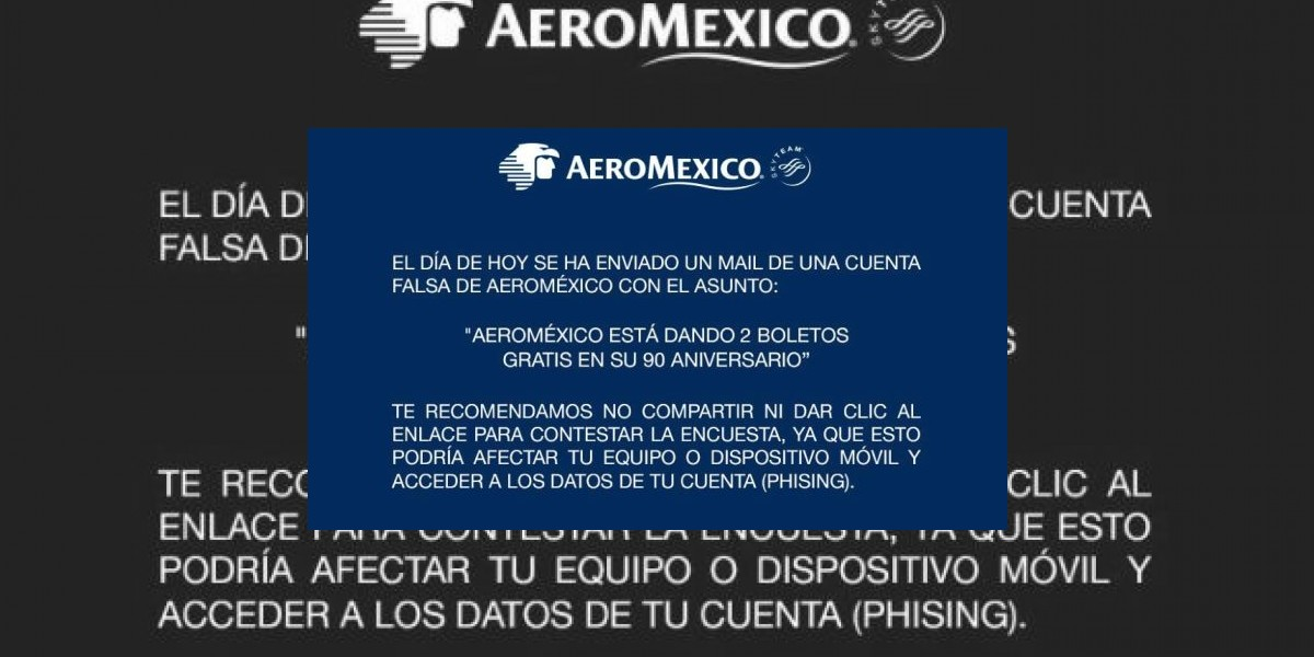 Alertan por correo apócrifo de Aeroméxico regalando boletos