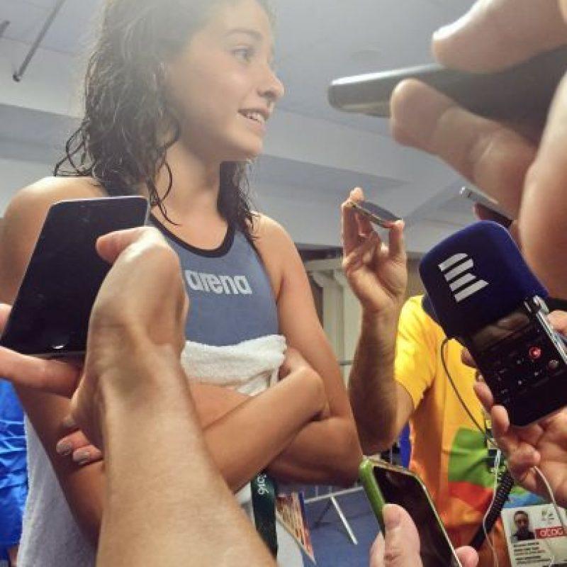 """""""Quiero seguir nadando y quiero seguir apoyando a los refugiados"""", Yusra Mardini, del equipo de refugiados Foto:Twitter.com/TeamRefugees"""