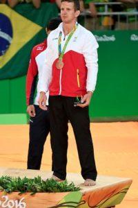 Dirk Van Tichelt el judoca que fue enviado a un hospital por un golpe en Río de Janeiro Foto:Getty Images