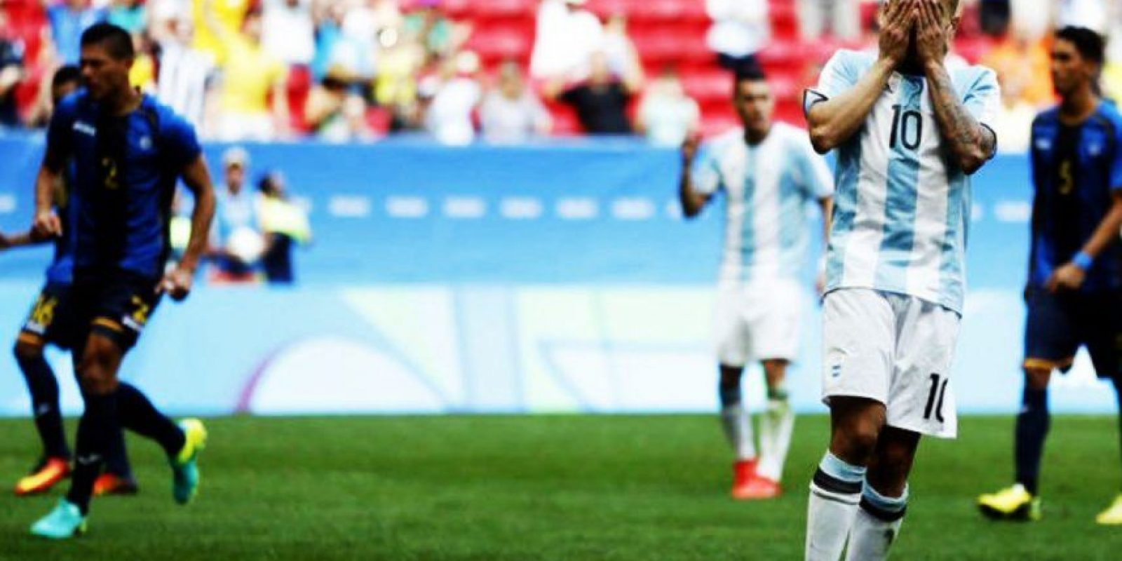"""4. Honduras igualó con Argentina y regresó a la """"Albiceleste"""" a casa Foto:Getty Images"""