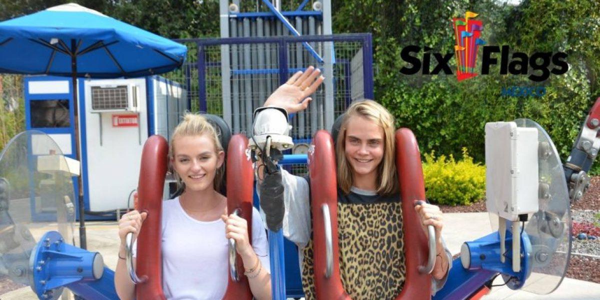 Cara Delevigne festeja su cumpleaños en Six Flags México