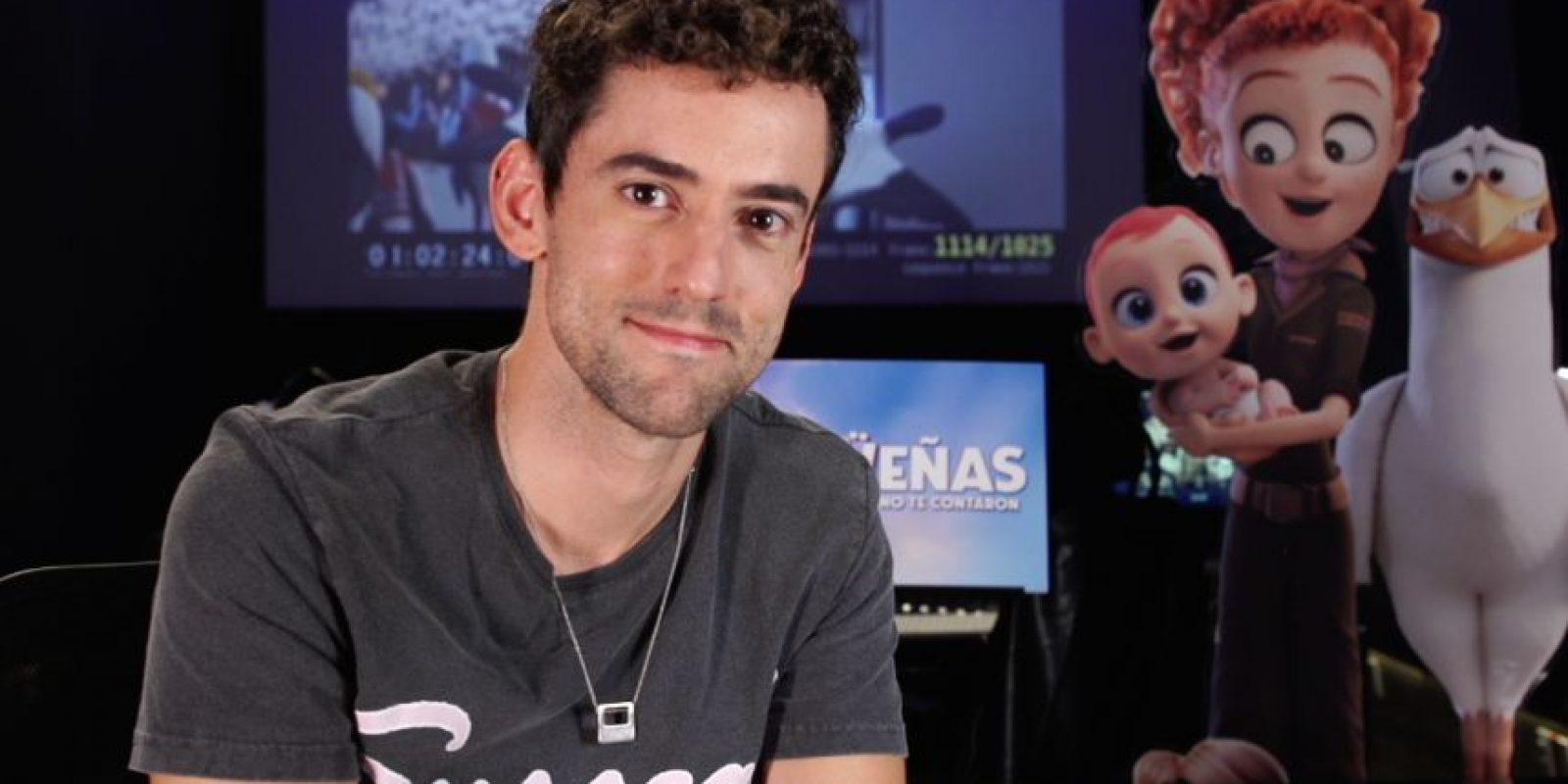 Luis Gerardo Méndez dará voz a Junior, una cigüeña obsesionada con el éxito profesional. Foto:Cortesía