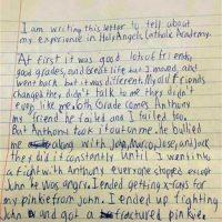 Esta fue la carta que descubrió la familia Foto:Facebook.com/daniel.fitzpatrick.7