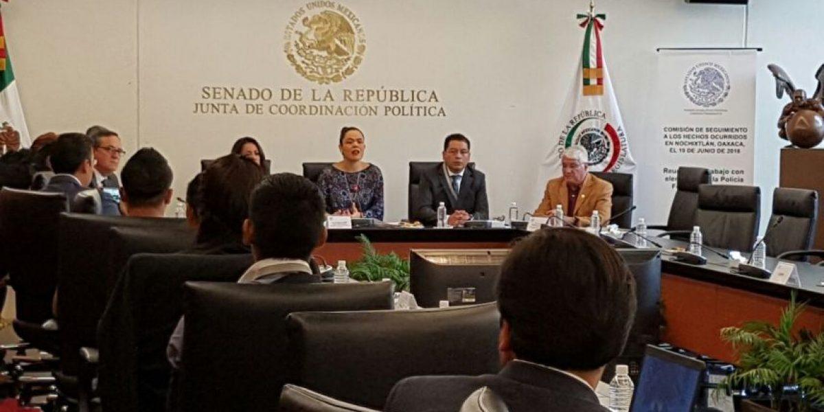 Policías federales declaran en el Senado por el caso Nochixtlán