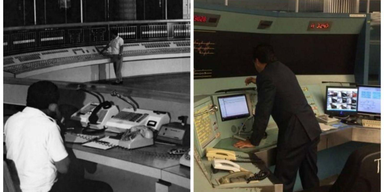 En la derecha es el Puesto Central de Control Foto:STC
