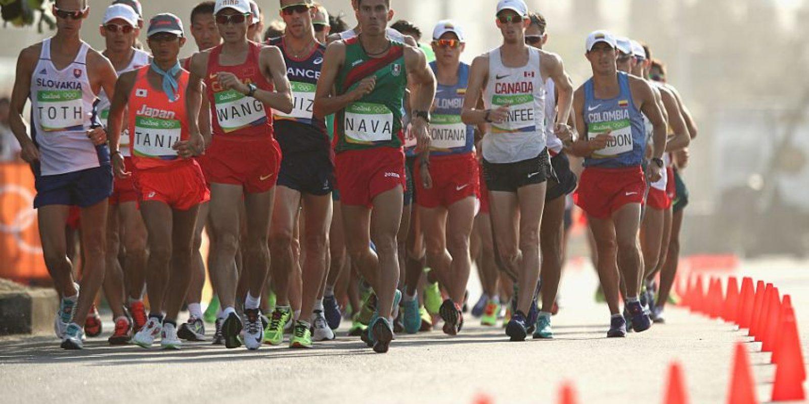 Los mexicanos terminaron lejos de la pelea por medallas en 50kms Foto:Getty Images
