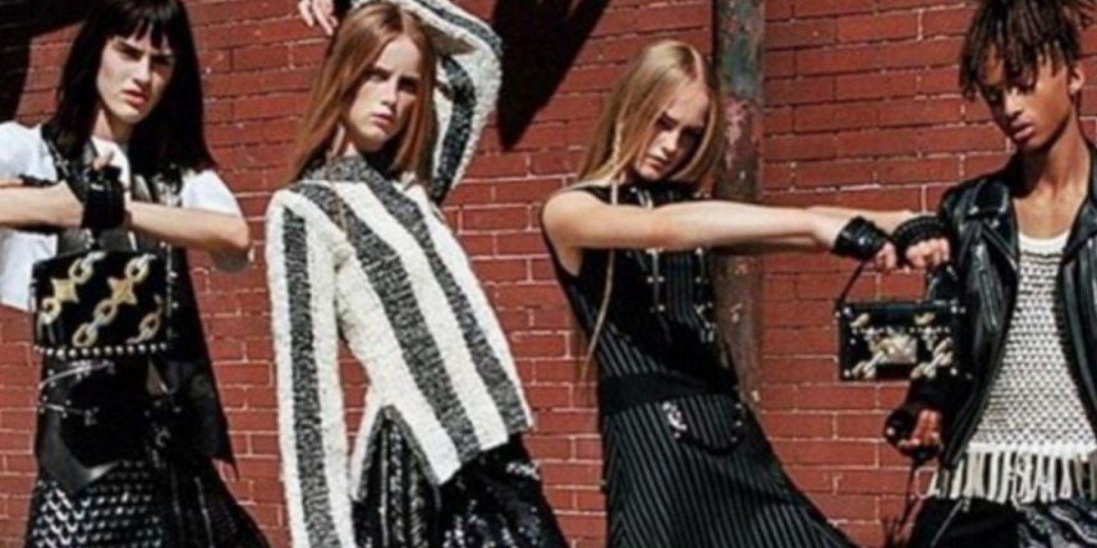 Protagonizó la campaña de Louis Vuitton vestido de mujer Foto:Instagram/@christiaingrey