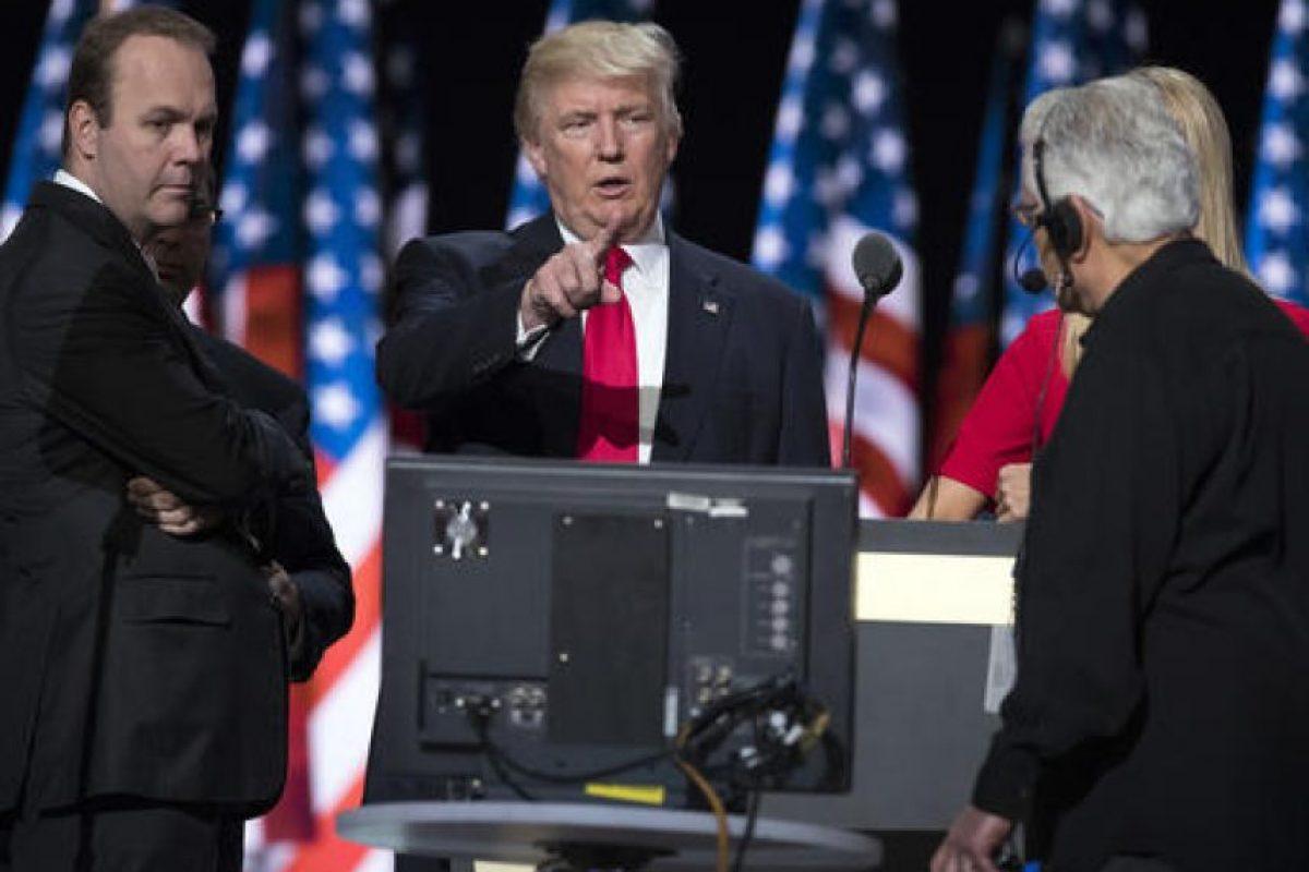 Donald Trump da un discurso durante su campaña política. Foto:AP/ Archivo