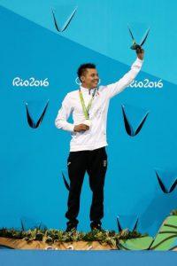 Germán Sánchez, clavados plataforma 10 metros, plata, Río 2016 Foto:Getty Images