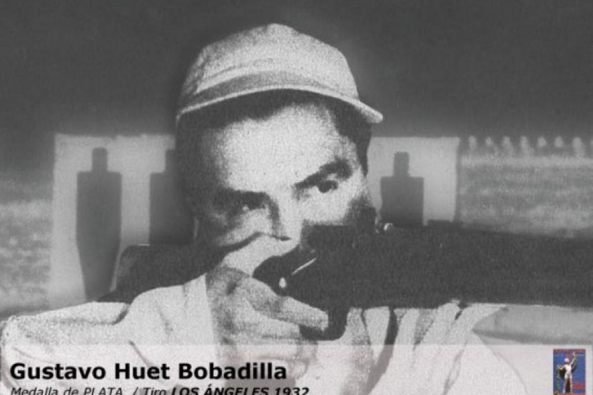 Gustavo Huet, tiro, plata, Los Ángeles 1932 Foto:Archivo