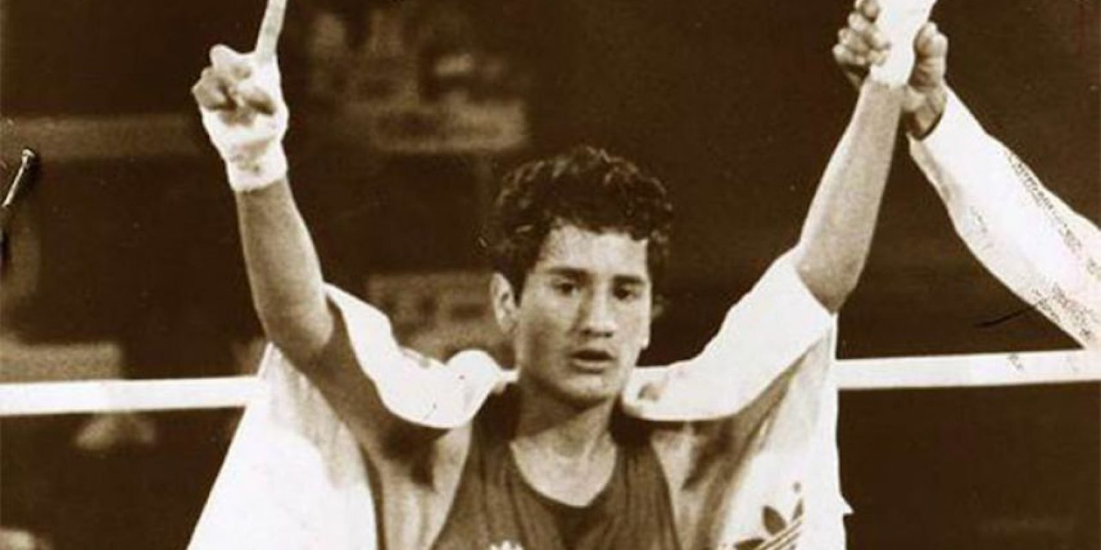 Héctor López, boxeo plata, Los Ángeles 1984 Foto:Archivo