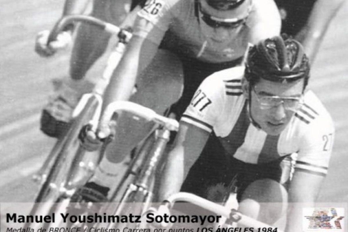 Manuel Youshimatz, ciclismo, bronce, Los Ángeles 1984 Foto:Archivo