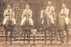 Equipo Polo: Pablo Escandon y Barron, Manuel Escandon y Barron, Eustaquio Escandon y Barron, bronce, París 1900 Foto:Archivo