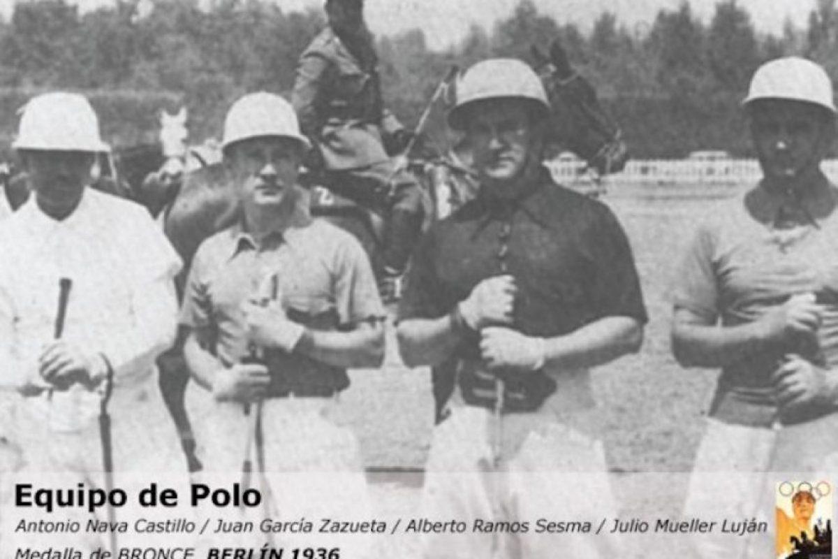 Equipo polo: Juan García Zazueta, Antonio Nava García, Julio Mueller Lujan, Alberto Ramos Sesma, bronce, Berlín 1936 Foto:Archivo