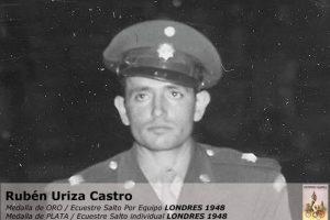 Rubén Uriza, ecuestre, plata, Londres 1948 Foto:Archivo