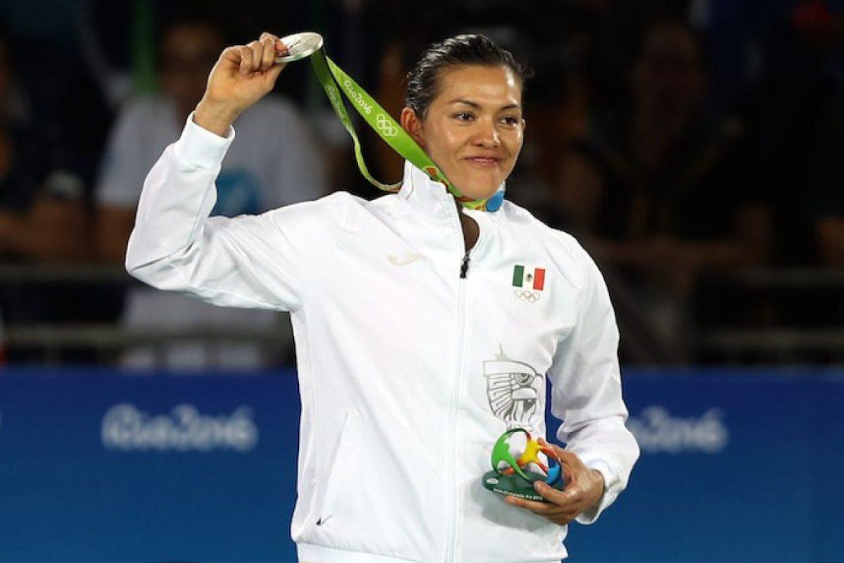 ¡Gran trabajo! María Espinoza se queda con la plata en taekwondo Foto:Notimex
