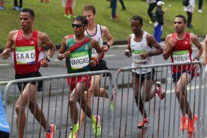 Mexicanos durante el maratón olímpico, Río 2016 Foto:Twitter @CONADE