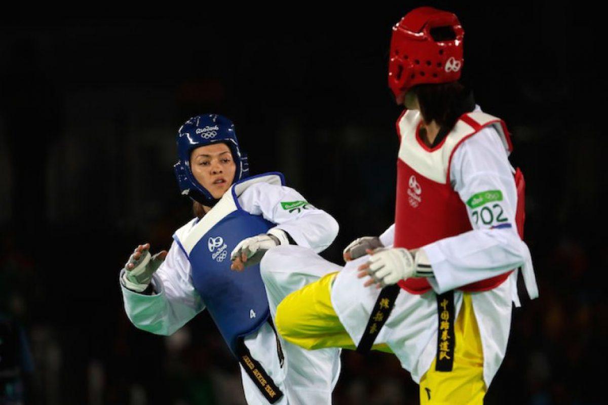 ¡Gran trabajo! María Espinoza se queda con la plata en taekwondo Foto:Getty Images