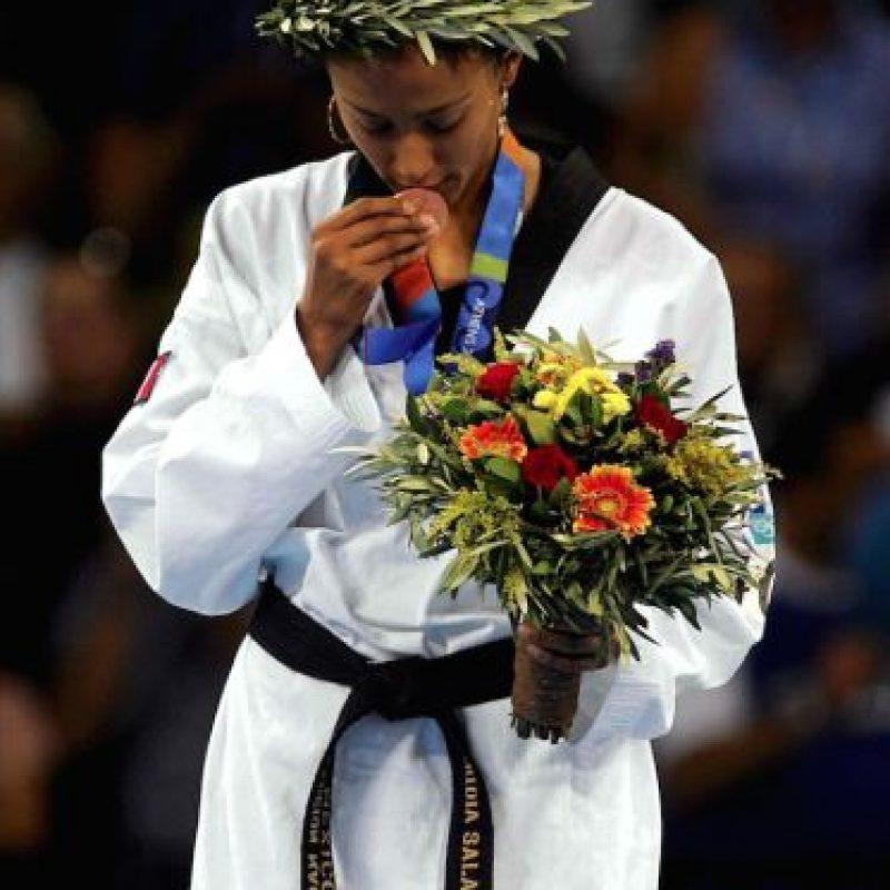 Iridia Salazar bronce Taekwondo Atenas 2004 Foto:Mexsport