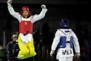 ¡Gran trabajo! María Espinoza se queda con la plata en taekwondo Foto:AP