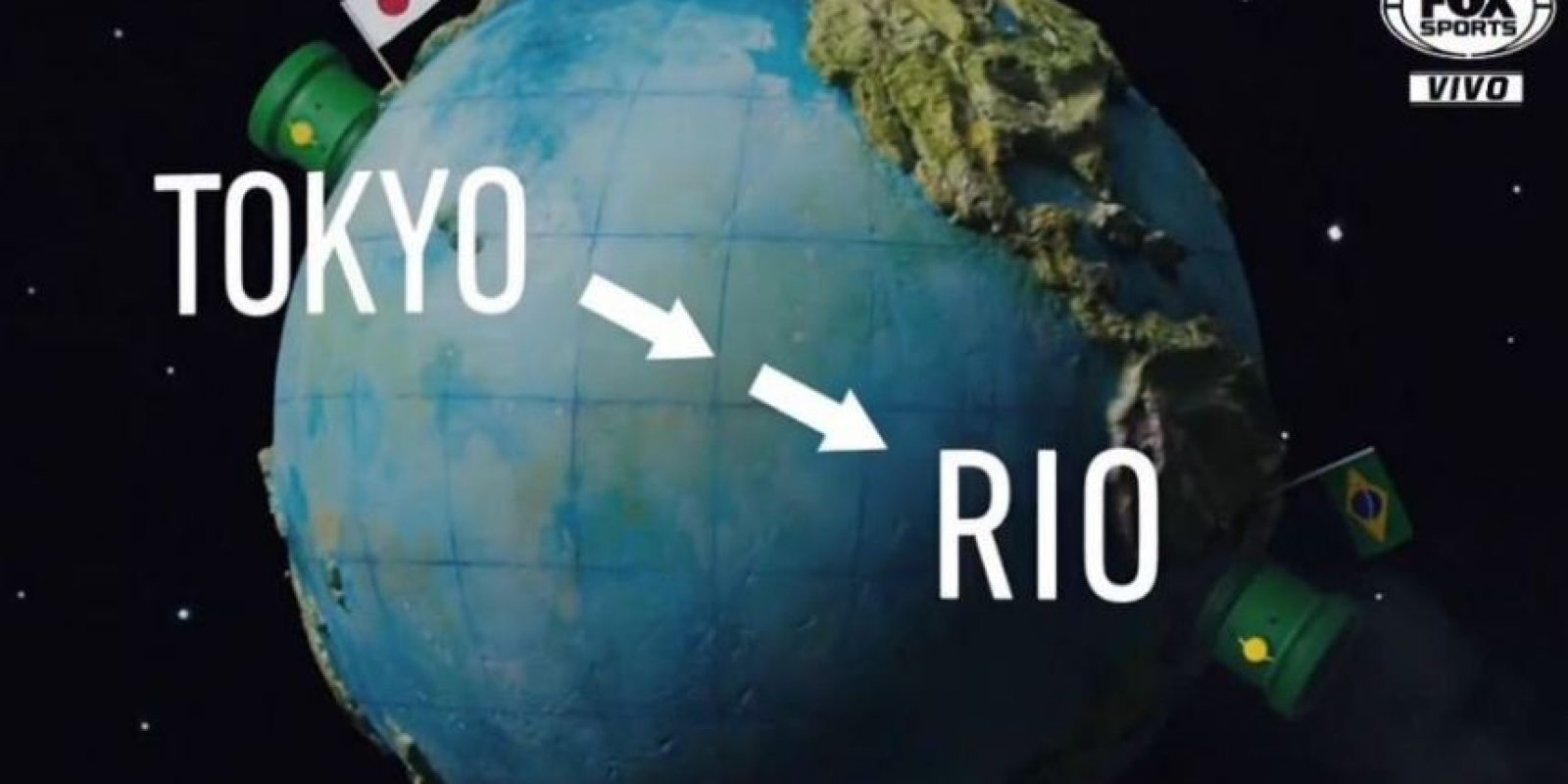 El video inicial comenzó con un recorrido de Tokio a Brasil. Foto:Vía twitter.com