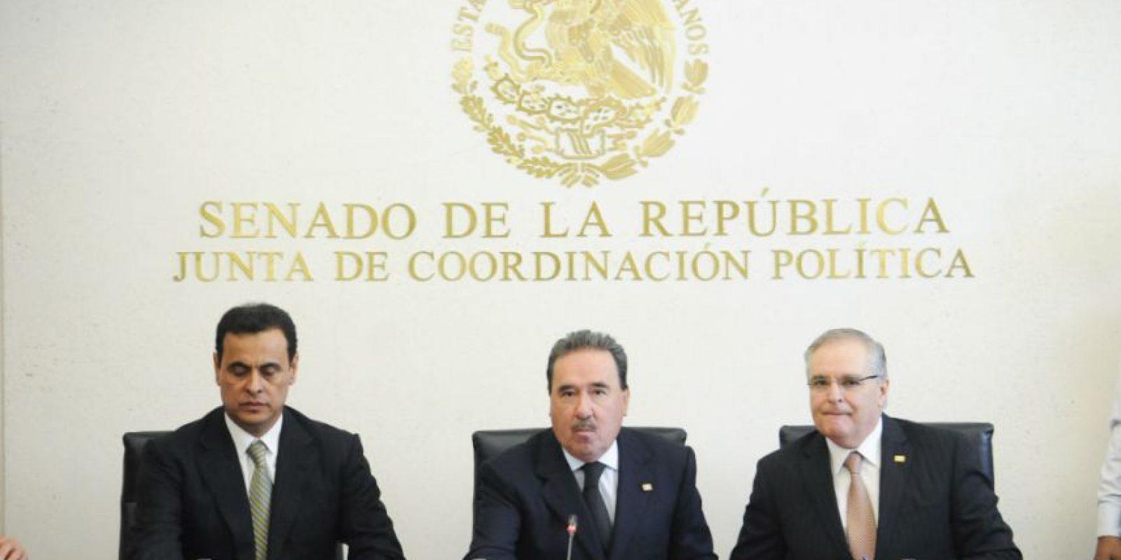 En conferencia de prensa anunciaron la realización de la Reunión Plenaria de Senadores del PRI Foto:Cuartoscuro