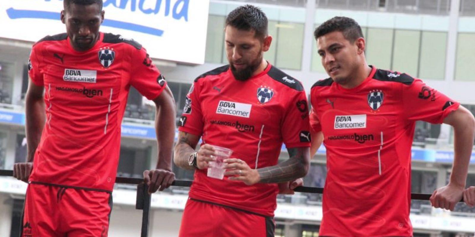 Los porteros del Monterrey se Mostraron algo serios. Foto:Israel Salazar
