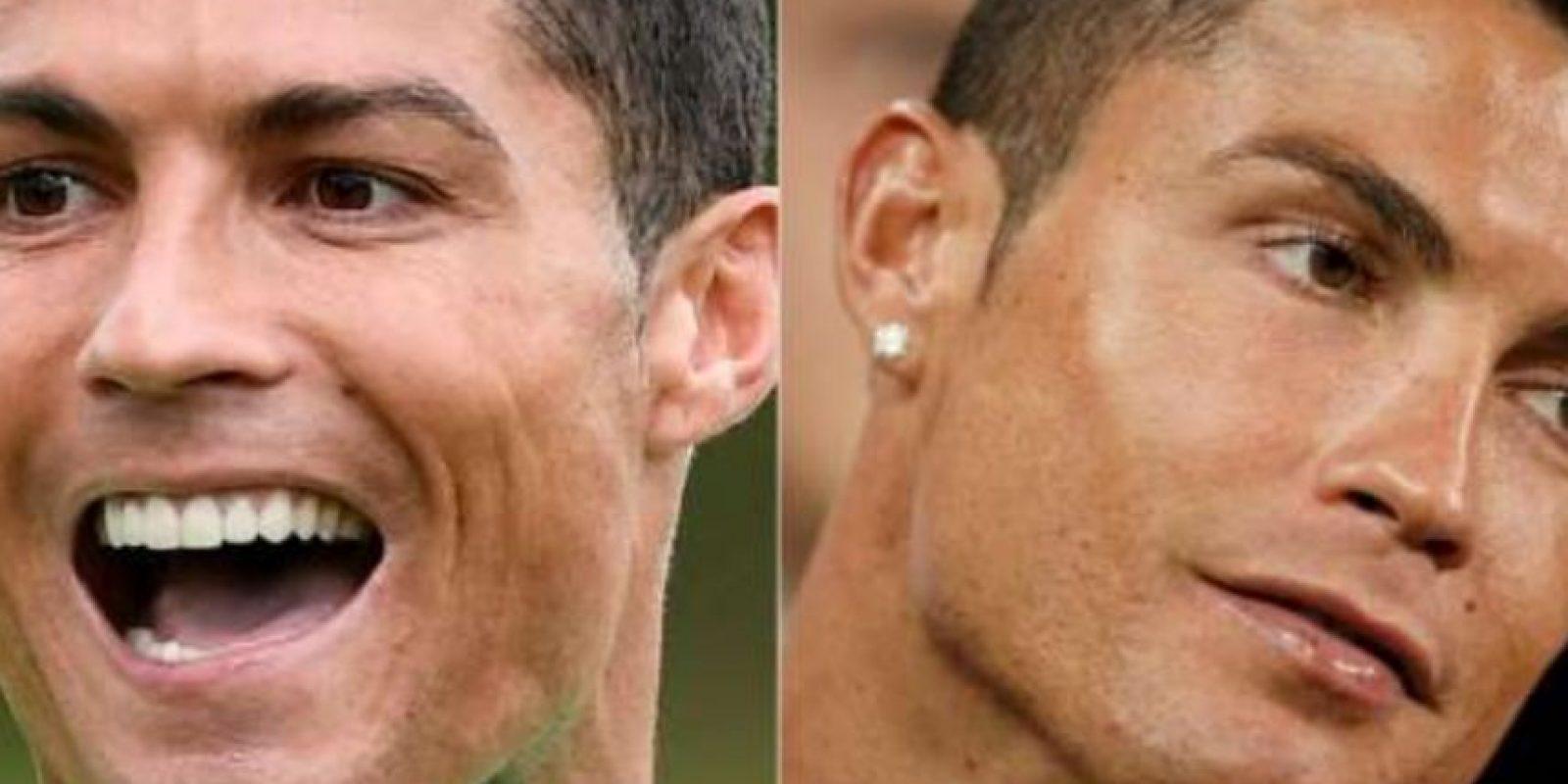 Aseguran que Cristiano Ronaldo utiliza pestañas postizas Foto:Twitter