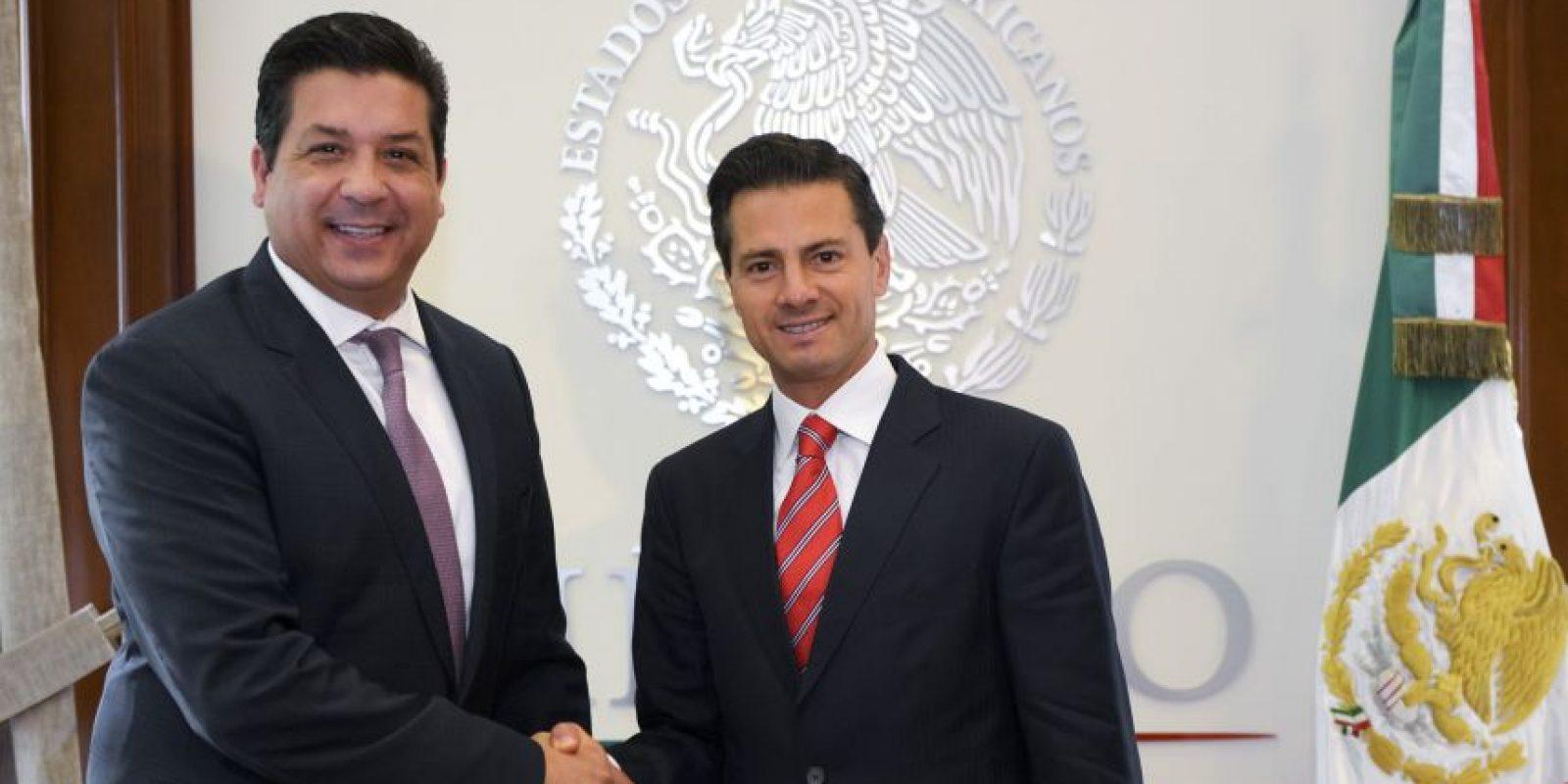 El presidente Peña sostuvo una reunión este jueves con el gobernador electo de Tamaulipas Foto:cuartoscuro