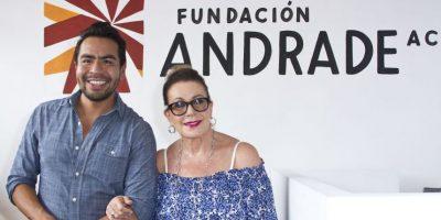 Laura Zapata inaugura la Fundación Andrade en Veracruz Foto:JDS